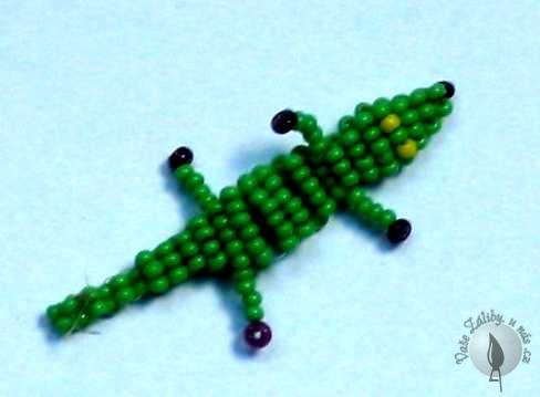 Krokodýlek z korálků