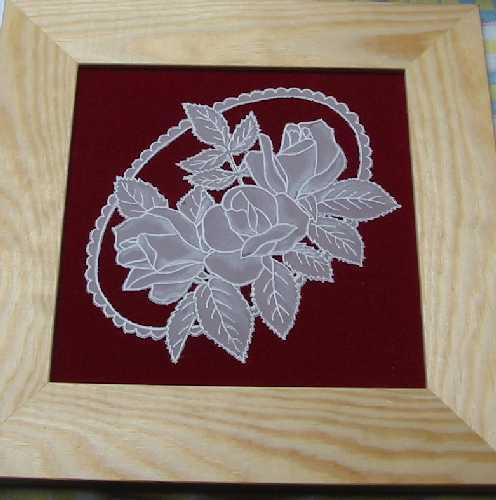 Pergamano - obrázek s růžemi