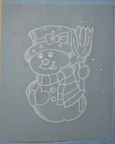 Přáníčko - sněhulák