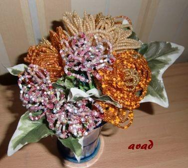 Korálková kytice