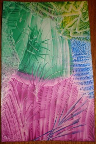 malované voskem
