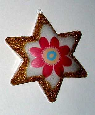 Zdobená plastová hvězda