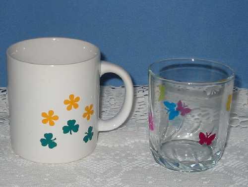 Hrníček a sklenice